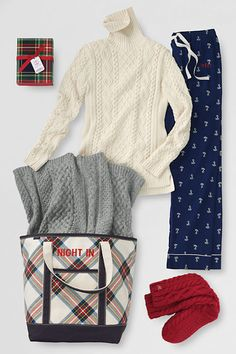 Does she love a night in? Make it extra cozy with a cable knit throw, warm slipper socks and some sea salt caramel candy.