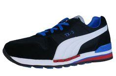 Puma Herren Schuhe TX-3 341044 40 Black/White/Palaca Blue - http