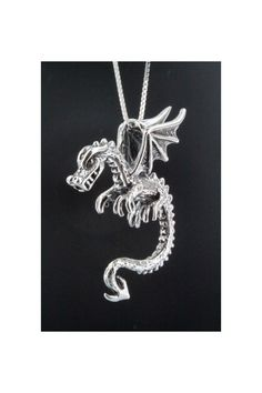 Dragon Necklace  Spike the Dragon  Silver Pendant by martymagic, $110.00