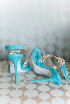 Love the color and crystal details of this Rene Caovilla shoes. Photo: Tamara Gruner Photography
