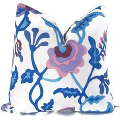 Alan Campbell Quadrille Potalla Indoor Outdoor Decorative Pillow Cover, Schumacher 18x18, 20x20, 22x22, 24x24 or Lumbar pillow, throw pillow...