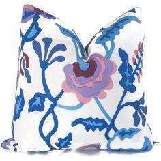 Alan Campbell Quadrille Potalla Indoor Outdoor Decorative Pillow Cover, Schumacher 18x18, 20x20, 22x22, 24x24 or Lumbar pillow, throw pillow...