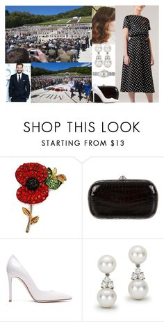 """""""Attending a Service at the Polish Cemetery and Memorial for the Battle of Monte Cassino, laying a wreath, and attending a Reception for wounded Italian Service personnel and their families with Antoni and Prince Harry."""" by matylda-ofpoland ❤ liked on Polyvore featuring Judith Leiber, Gianvito Rossi, Tiffany & Co. and Rolex"""