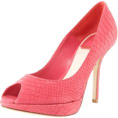 Christian Dior Miss Dior Python-Embossed Pump, Coral...these are the shoes I will be wearing!!