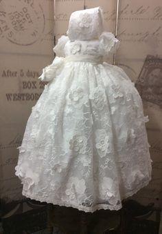 Christening Gowns, Candle Set, Cotton Lace, Hemline, Charlotte, Flower Girl Dresses, Blessing, Elegant, Wedding Dresses
