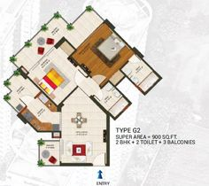 2 bhk and 3 bhk flats in Amaatra Homes Noida Extension- Get Floor Plan Here