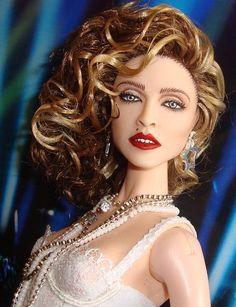 OOAK Madonna Like A Virgin Barbie Doll Repaint Reroot MTV Video Outfit Fr | eBay
