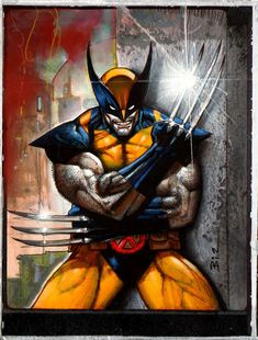 Simon Bisley Xmen WOLVERINE painting Marvel war of heroes, in Joao Antunes's Bisley, Simon Comic Art Gallery Room - 1018964