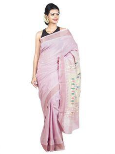 Baby Pink Cotton Paithani   Handloom Saree Price   OnlyPaithani