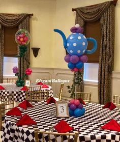 Tea party decor - Alice in Onderland #aliceinonderland #teaparty