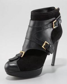 Alexander McQueen Ankle Boot with Removable Harness #Harness