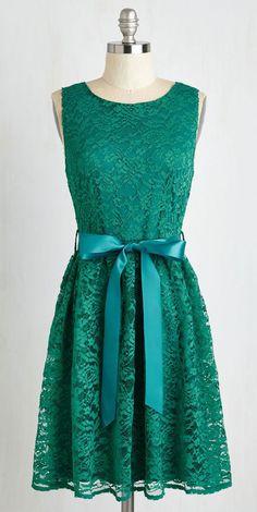 Lovely as Lychee Dress in Emerald