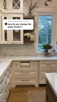 Kitchen Pantry Design, Kitchen Cabinet Styles, Diy Kitchen Cabinets, Kitchen Redo, Interior Design Kitchen, Kitchen Organization, Kitchen Storage, Organization Ideas, Dark Cabinets