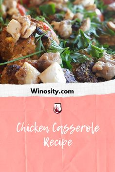 This chicken casserole recipe is a healthy recipe for the family. Healthy comfort food to savor with a good bottle of light red wine. This yummy chicken recipe can be served both for lunch and dinner. #summercomfortfood #amazingchickenrecipes #recipeforchickencasserole #onepotmeals #onepotdinnerrecipe #winepairingswithfood Yummy Chicken Recipes, Potato Recipes, Lunch Recipes, Wine Recipes, Healthy Recipes, Potato Side Dishes, Best Side Dishes, Best Comfort Food, Healthy Comfort Food