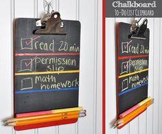 Chalkboard To-Do List Clipboard