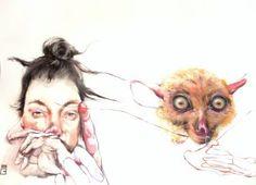 "Saatchi Art Artist Olga Gál; Painting, ""Selfie4 the watch"" #art"