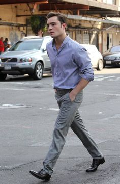 Ed Westwick on set style.