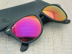 black ray ban wayfarer black lens  RESERVED. Pink Ray Ban Aviator Junior Sunglasses