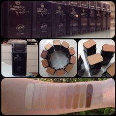 Swatches of our NEW MaqPro Fard Creme Sticks, captured in natural lighting!