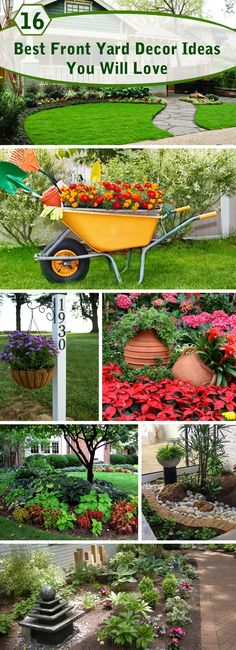 Simple and easy DIY garden landscaping ideas for front yards #garden #landscaing #frontyard #backyard
