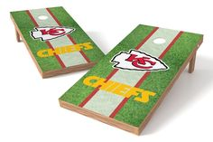 Kansas City Chiefs Cornhole Board Set - Field
