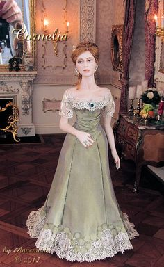 "Cornelia. First doll from my new lady mold ""Cornelia""."