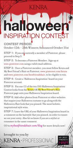 Kenra + My Best Friend's Hair Halloween Contest Details