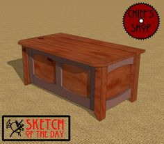 Sketch of the Day: Storage Bench