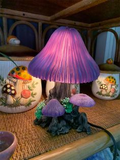 Finally found a mushroom lamp today! Room Ideas Bedroom, Bedroom Decor, Mushroom Decor, Mushroom Crafts, Mushroom Lights, Indie Room, Deco Design, Lamp Design, Design Design