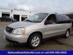 Model: 2005 Ford Freestar Wagon   Price: $8,995   COLOR    Silver Birch Metallic /Pebble    MILES    112,114    Engine    3.9L Engine    Trans    4-Speed A/T    Stock #    S055289    VIN    2FMZA57625BA45289        If Interested call National Auto Sales today (856) 589-2600 Ask for Bill