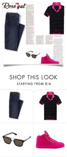 """""""Untitled #997"""" by selmabjelic ❤ liked on Polyvore featuring Lands' End, Dolce&Gabbana, Giuseppe Zanotti, men's fashion and menswear"""