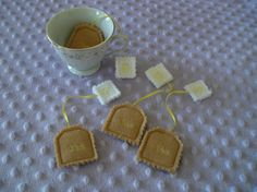 Pretend Felt Play Food Tea Bags set of 4 by kidnaroundcreations, $6.00