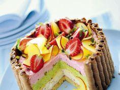 Three Layer Charlotte Cake Recipe! So Pretty! #Three_Layer #Charlotte #Cake #Recipe