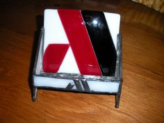 Fused glass business logo cardholder by PersonaLEE Yours