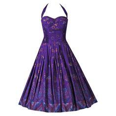 purple mid calf halter dress - Google Search