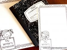 DIY Writer's Notebook from  A Modern Teacher www.amodernteacher.com