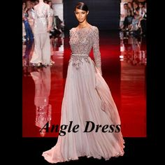 Aliexpress.com : Buy Sexy Zuhair Murad Evening Dresses Arabic Evening Gowns Dresses Abaya in Dubai Kaftan Dress Abiti da Sera Avondjurken Lange from…