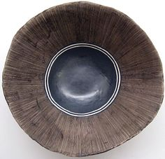 Helen Vaughan | Ceramic bowl, bronze scratch