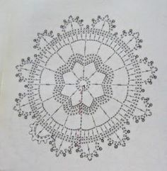 Anabelia craft design: Crochet doilies and lace motifs - motif 5 Crochet Diagram, Crochet Chart, Crochet Motif, Crochet Doilies, Crochet Flowers, Crochet Stitches, Crochet Patterns, Crochet Round, Crochet Squares