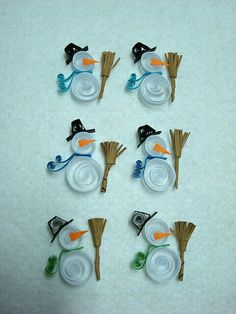Twilling snowman card....it's work...but looks great