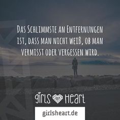 Das Schlimmste an Entfernungen ist dass man nicht weiss ob man vermisst oder ver… The worst thing about distances is that you do not know if you are missing or forgotten True Quotes, Best Quotes, Funny Quotes, Goodbye My Love, German Quotes, German Words, Motivation Goals, Some Words, Life Inspiration