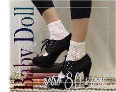 Lace sock, lace socks, lace ankle sock, crochet, sock, lace socks for heels, JANEY Cream ankle sock | CS0