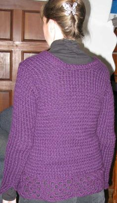Working Without Patterns: The Knifty Knitter Loom - a new purple sweater