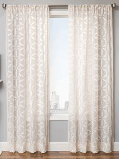 starburst sheer curtain panel unique applique textured style standard size curtains 84