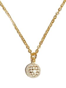 Golf jewelry on ladies golf world golf pinterest ladies golf gold enamel golf ball necklace aloadofball Image collections