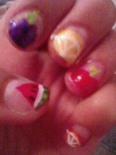 Fruit Nails, one step ahaid of watermelon nails :)