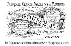 Free Vintage Clip Art - Paris Advertising Ephemera - The Graphics Fairy