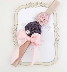 Pastel  Colored Flowers with Elastic Hadband and by cacababy, $8.95