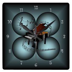 Piano ~ 4 Globe ~ Musical Clock ~ Musical Scale ~