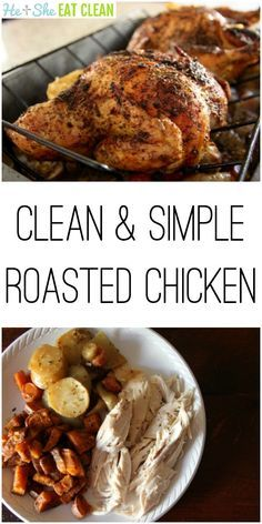 This chicken was devoured when we served it over the holidays! Not only is it perfect for gatherings, this Clean & Simple Roasted Chicken is great for food prep!